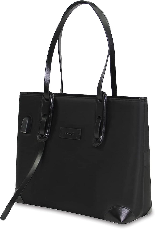 Laptop Tote Bag Woman Fashion USB Teacher Work Purse Office Computer Bag Fits 15.6 inch Laptop MacBook Pro Air HP Dell
