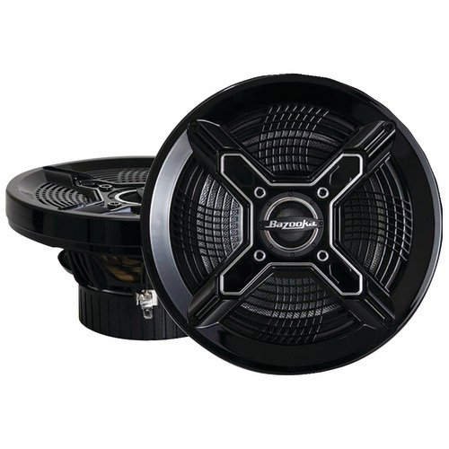 Bazooka MAC6510B Marine Coaxial Speakers (6.5 Black)