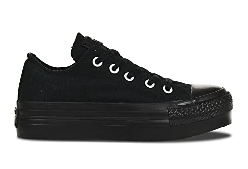 all star converse negras plataforma