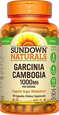 Sundown Naturals Garcinia Cambogia 1000 mg, 90 Vegetarian Capsules