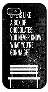 iPhone 5 / 5s Life is like a box of chocolates. You never know what you're gonna get - black plastic case / Life Quotes