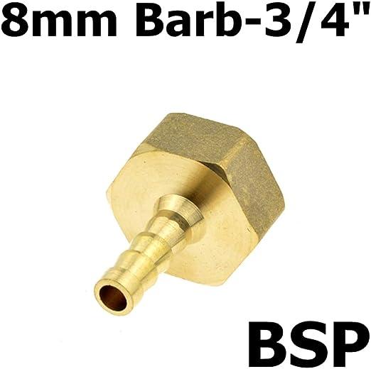 5/piezas racor de lat/ón manguera Air agua 10/mm Barb a 1//4/Coupler Thread Adapter PT