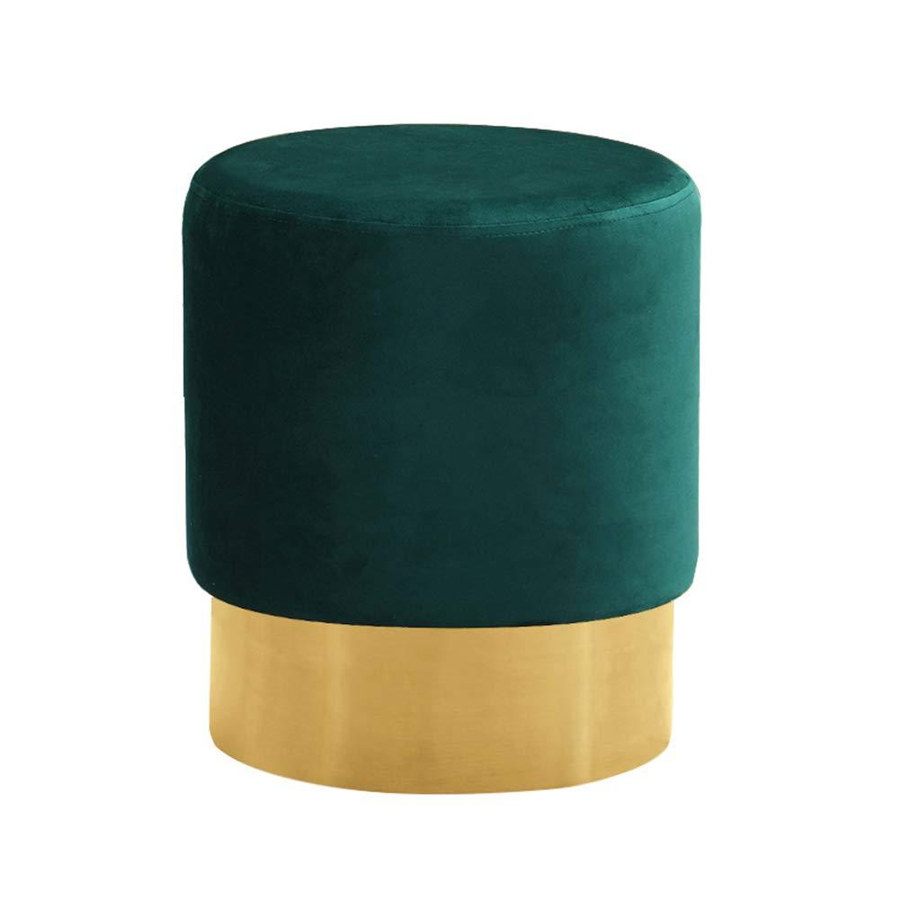 AGLZWY メイクアップスツール 多機能 ソファー ヨーロッパスタイル 無垢材 ラウンドボディ 布 寝室 ドレッシング 、   4色 (色 : E, サイズ さいず : 35X42CM) 35X42CM E B07Q9Q9BPQ