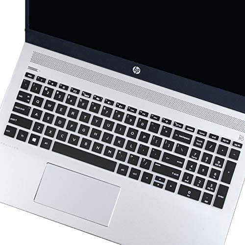 Keyboard Cover Compatible 2019 2018 HP Pavilion 15 Series /2019 2018 HP Pavilion x360 15.6 Series/HP Envy x360 15.6 Series/HP Envy 17 Series/HP Laptop 15t 17t 17-ca0011nr 17-by0040nr -Black