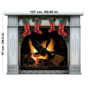 Christmas Decorations Fireplace Wall Decal Christmas Fireplace Wall Decal  Christmas Stockings Christmas Socks