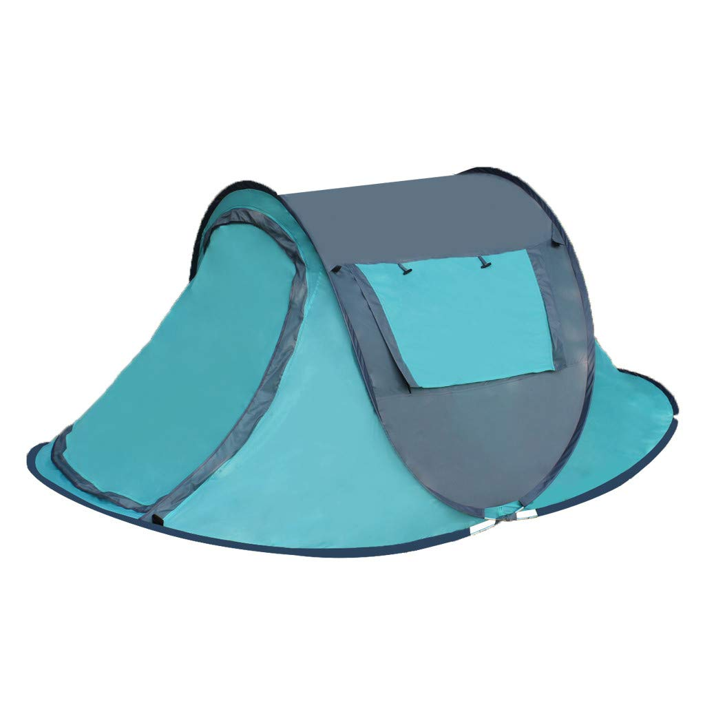 Leadmall Family Pop Up Camping Tent | 2-4 Person Automatic Hydraulic Waterproof PU Protection Windbreak Instant Tents | Portable Sun Shelter for Outdoor Backpacking Tent (1PC Sky Blue Outdoor Tent) by Leadmall
