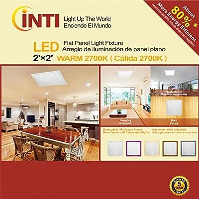 2'X2' LED Flat Panel Light Fixture Warm 2700K 60Watt 110-277V