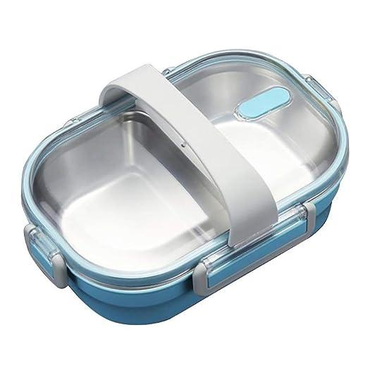 Portátil Lunch Box Acero Inoxidable Reutilizable Contenedor ...