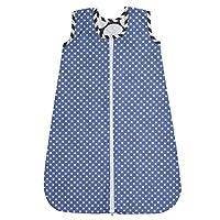 Bacati Dots/Pin Stripes Sleep Sack 2, Grey/Blue