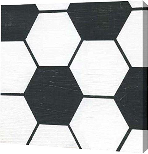 PrintArt GW-POD-48-AG1023-36x36 ''Soccer'' by Alli Rogosich Gallery Wrapped Giclee Canvas Art Print, 36''x36'' by PrintArt.com