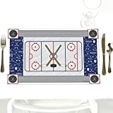 Shoots & Scores! - Hockey - Party Table Decorations - Baby Shower or Birthday Party Placemats - Set of 12