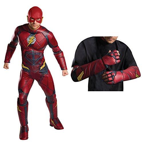 Justice League Movie - Flash Deluxe Men's Costume Kit Standard