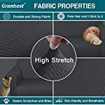Granbest Thick Sofa Cover 1 Seater Chair Covers for Living Room Stylish Pattern Stretch Sofa Slipcover for Dog Pet Non…