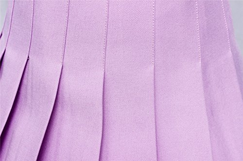 Falda escolar plisada para niña colegio tenis scooters Light purple skorts