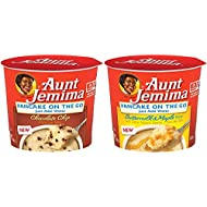 Quaker Aunt Jemima Pancake Cups, 2 Flavor Variety Pack,(12 Count)