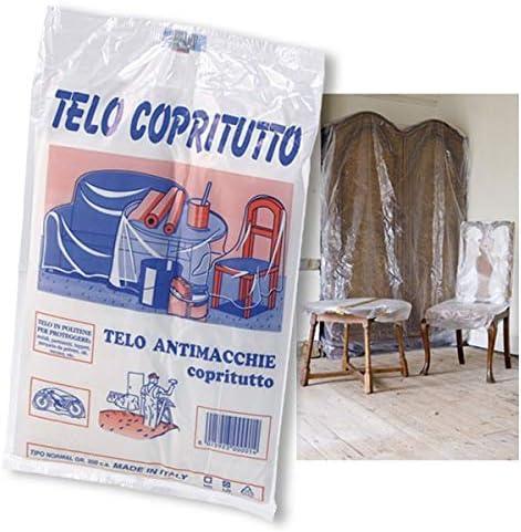 2 Teli Copritutto in Plastica 4x4 mt