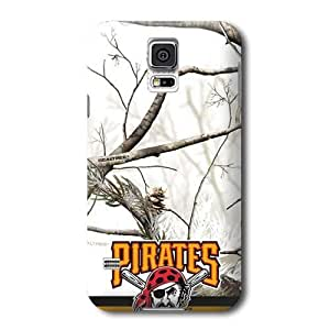 S5 Case, MLB - Pittsburgh Pirates Realtree Camo - Samsung Galaxy S5 Case - High Quality PC Case