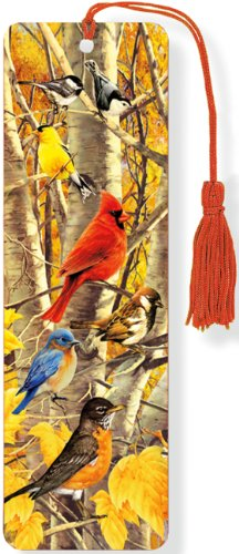 Autumn Birds 3-D Bookmark (Lenticular Bookmark) from Peter Pauper Press