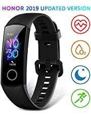 HONOR Band 5 Fitness Trackers HR, Activity Trackers Health Exercise Watch with Heart Rate and Sleep Monitor, Smart Band Calorie Counter, Step Counter, Pedometer Walking for Men Women and Kids Black