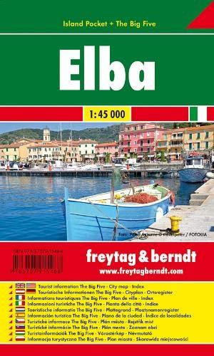 Elba Island Pocket Map FB 1:45K (English, Spanish, French, Italian and German Edition)
