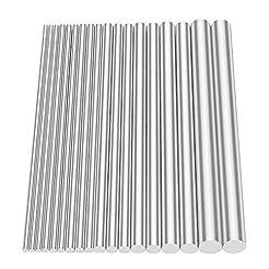 Glarks 18Pcs Aluminum Solid Round Rod La...