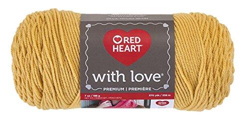 Medium Weight Gold Knit (Red Heart With Love Yarn, Cornsilk)