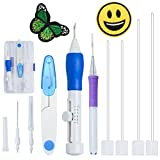 Arts & Crafts : Magic Embroidery Pen Punch Needles, BoChang Magic Embroidery Pen Set Embroidery Kits Punch Needle Kit Knitting Sewing Tool for Embroidery DIY Threaders Sewing