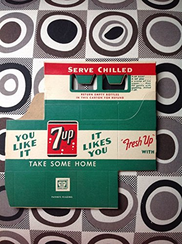 Vintage 1940's 7UP Soda Bottle Carton