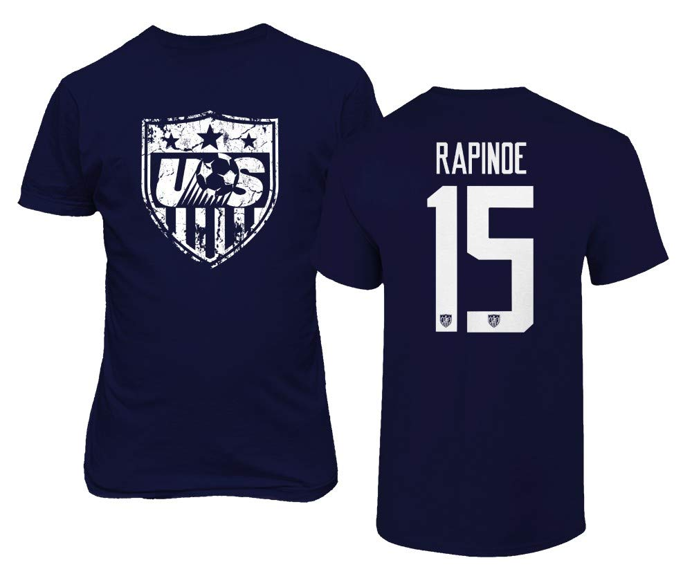 TURXIN USA New Womens Soccer Rapinoe #15 National Team 2019 T-Shirt
