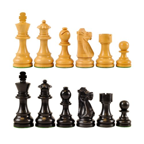 Wholesale Chess French Style Ebonized Wood Chess Pieces - 3.75