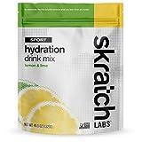 SKRATCH LABS Sport Hydration Drink Mix, Lemon Lime (46.5 oz, 60 servings) - Natural, Electrolyte Powder Developed for Athletes and Sports Performance, Gluten Free, Vegan, Kosher