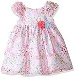 Laura Ashley London Little Girls' Pink Floral Print Dress, Multi, 4