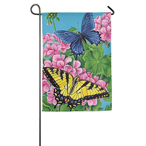 WYIZYIQA Beautiful Butterfly Garden Flag Yard Decorations Fl