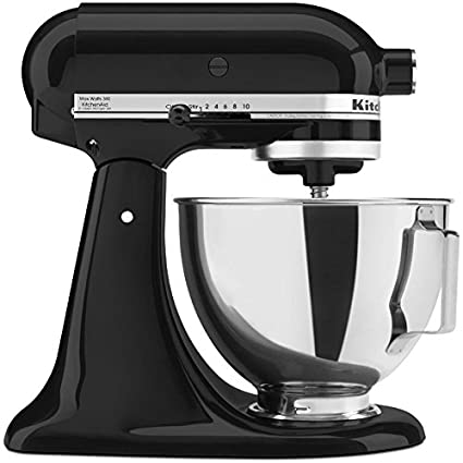 Superior Kitchenaid Tilting Stand Mixer Tilt 4.5 Quart Ksm85pbob All Metal Housing  And Gears Silver Metallic
