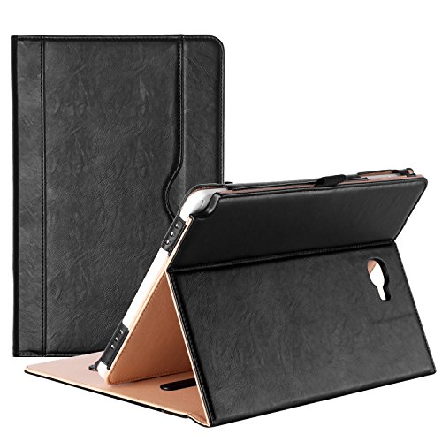 ProCase Galaxy Tab A 10.1 with S Pen Case 2016 - Stand Folio Case Cover for Galaxy Tab A 10.1 Inch Tablet with S Pen SM-P580, with Multiple Viewing Angles, Document Card Pocket - Black