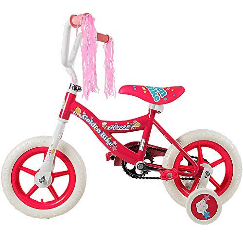 HAPTOO Toddler Bike for Girls with Training Wheels & Coaster Brake for 3-5 Years Old, Toddler Bicycle Kid Bicycle ()