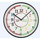 Amonev Time Teacher Scope Wall Clock Teach Children To
