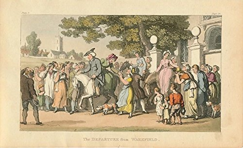 Departing friends Horse caricature ca.1820 vintage Rowlandson Ackermann print