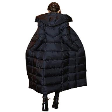 06f514b4510afd ... Lange Daunenjacke mit Kapuze Winterjacke Wintermantel Parka Jacke  Outwear Winter Warm Daunenmantel Steppjacke Oberbekleidung Trenchcoat S-2XL  Schwarz: ...