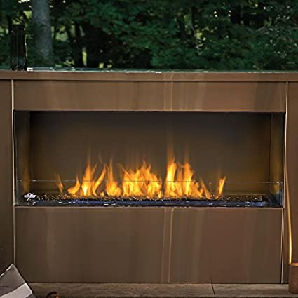 Amazon Com Napoleon Single Sided Linear Outdoor Gas Fireplace