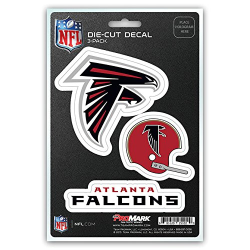 NFL Atlanta Falcons Team Decal, 3-Pack Falcon Stickers