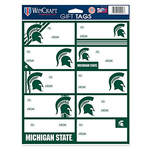 Michigan State Spartans Player (NCAA Michigan State Spartans Gift Tag Sheet, 8.5 x 11-inches)