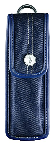 Opinel Sheath, blue jeans optic, carabiner, for knife no. 10 and mushroom knife