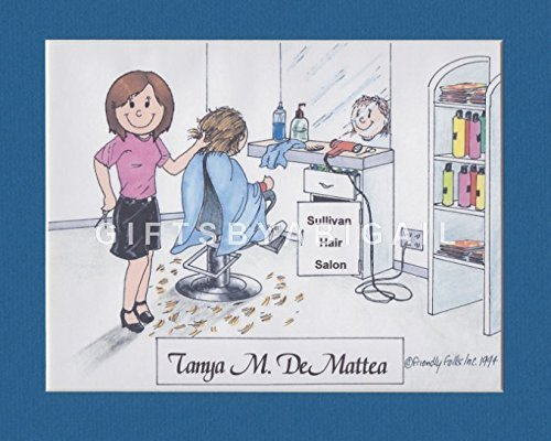 Cosmetology Personalized Gift Custom Cartoon Print 8x10, 9x12 Magnet or Keychain