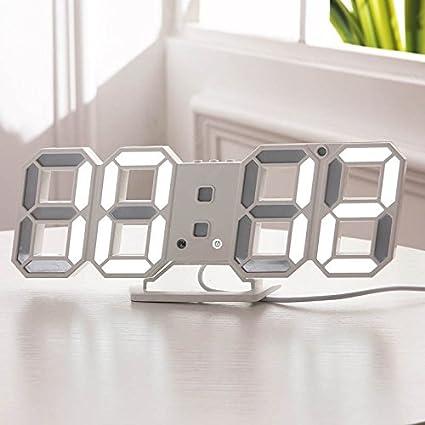 ZREAL Reloj de Pared estéreo del Reloj Digital de la Moda 3D LED para el hogar