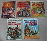 Great Illustrated Classics set: Christmas Bedtime Stories; King Arthur and the Knights of the Round Table; Little Women; The Swiss Family Robinson; Treasure Island
