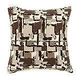 Furniture of America Kella 18'' Square Throw Pillow in Brown (Set of 2)