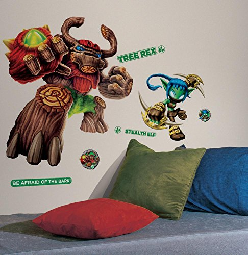 Skylanders Giants Tree Rex & Stealth Elf Peel and Stick Giant Wall Decals 18 x 40in