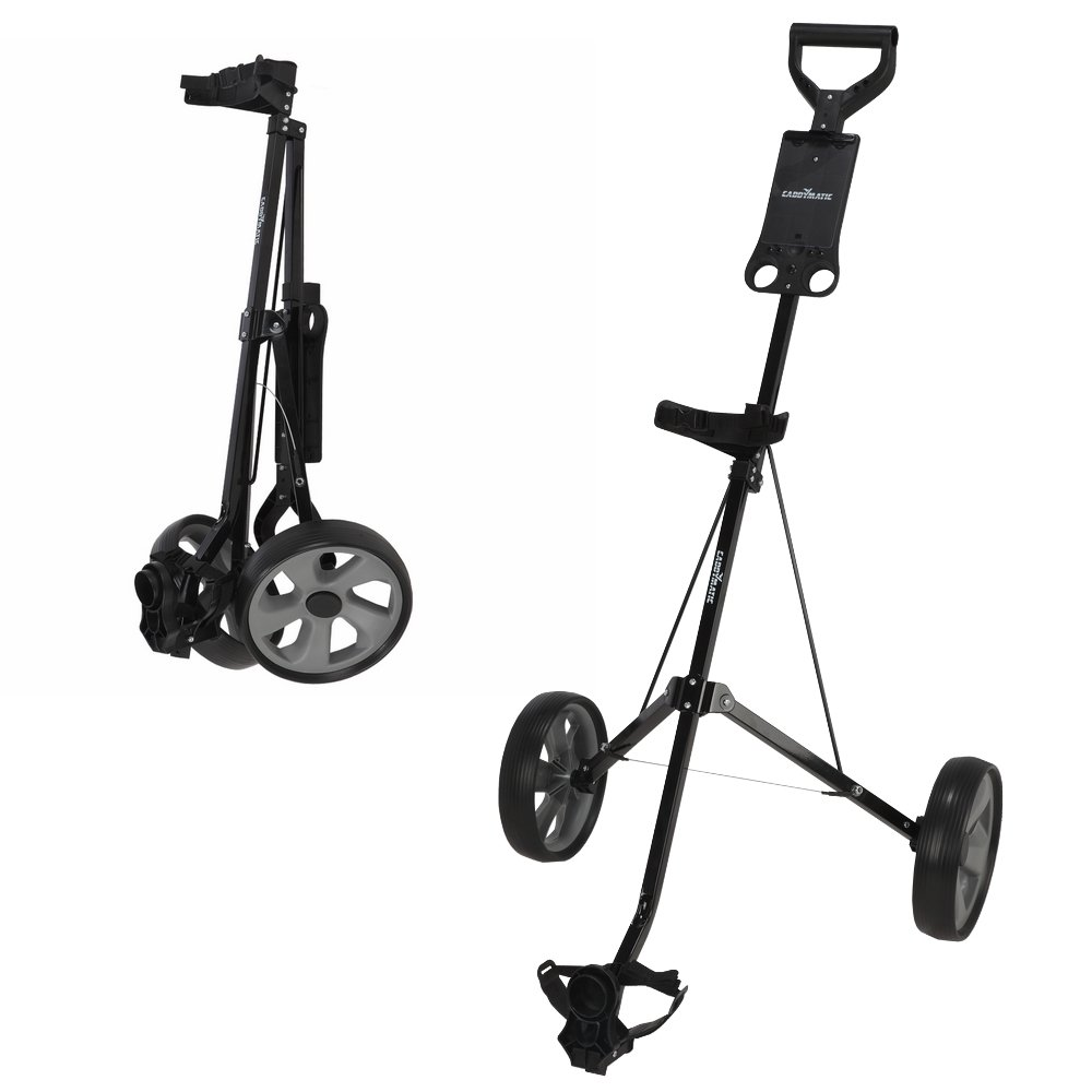 Caddymatic Golf i-Trac 2 Wheel Folding Golf Cart Black/Gray