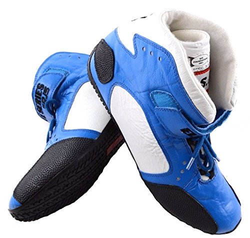 RJS RACING SFI 3.3/5 ELITE LEATHER DRIVING SHOES BLUE SIZE MENS 12 WOMENS 14